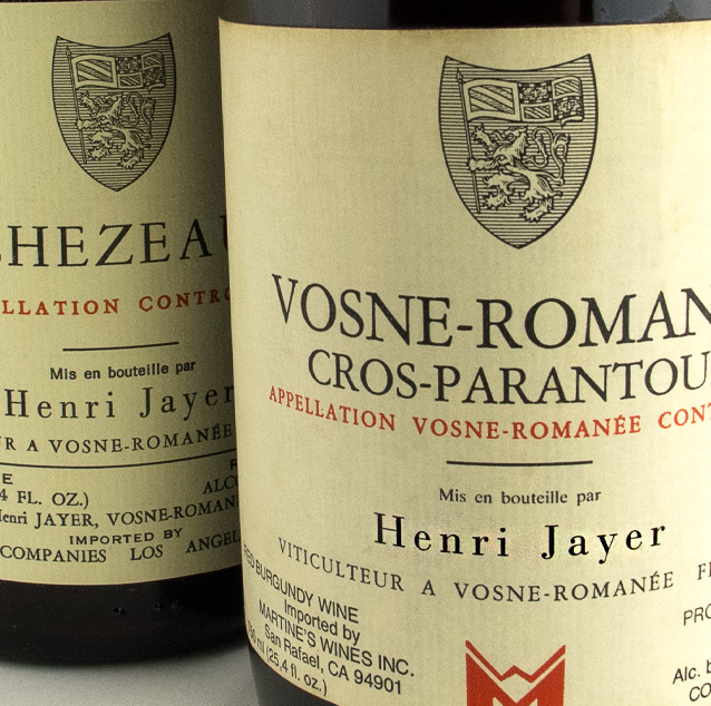 View All Wines from Jayer, Henri