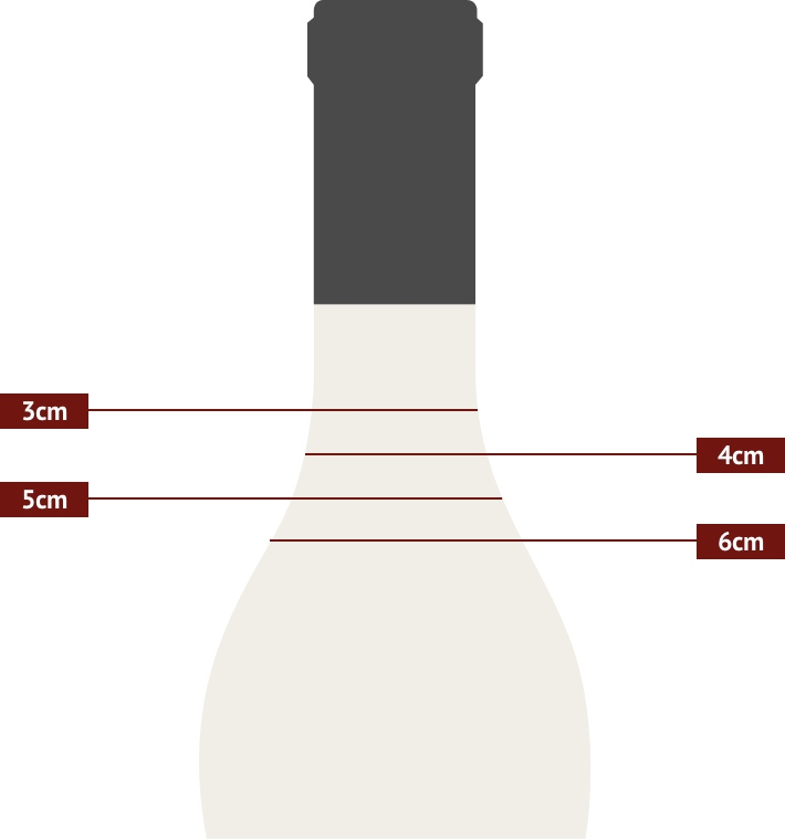 Burgundy Bottle Ulage Diagram